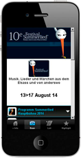 summerlied event mobile page example