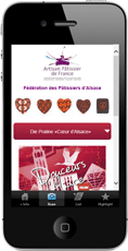 douceurs Alsace mobile page example